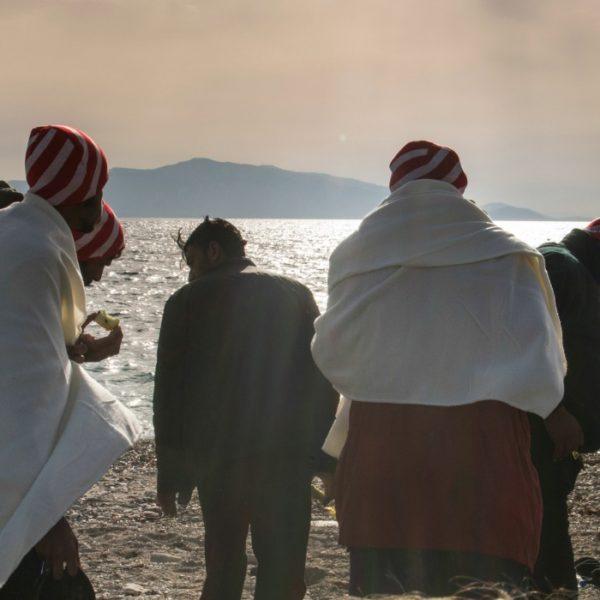 L'arrivo dei migranti sull'isola greca