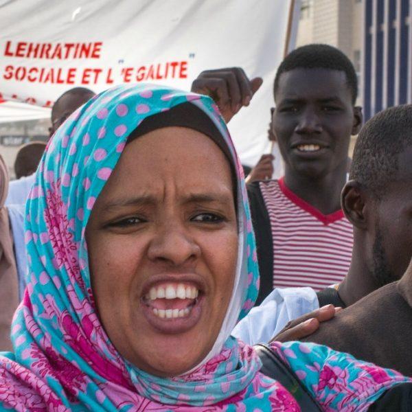 Una manifestazione di protesta contro la schiavitù in Mauritania