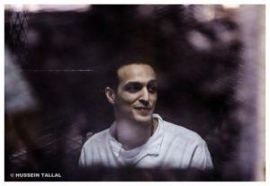 Shawkan in una sessione del processo @Hussein Tallal