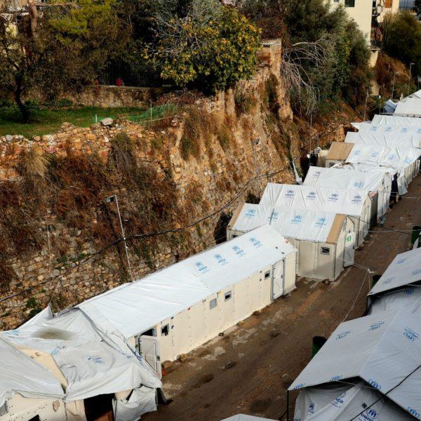 Rifugiati a Chio, Grecia